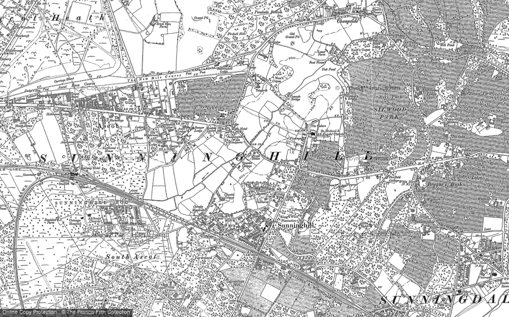 Old Map of Historic Map covering Agincourt in 1898
