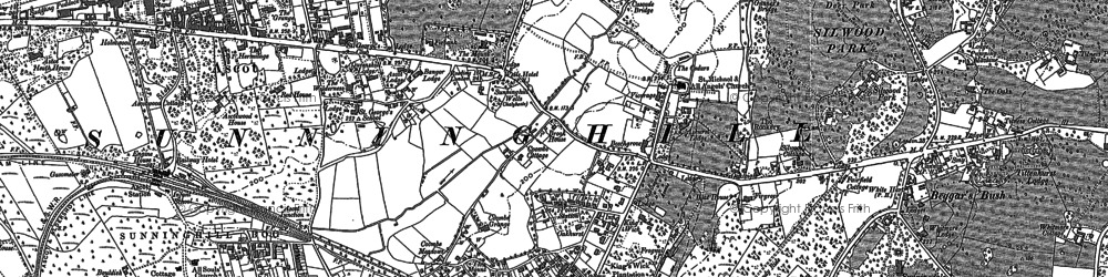 Old map of Cheapside in 1898