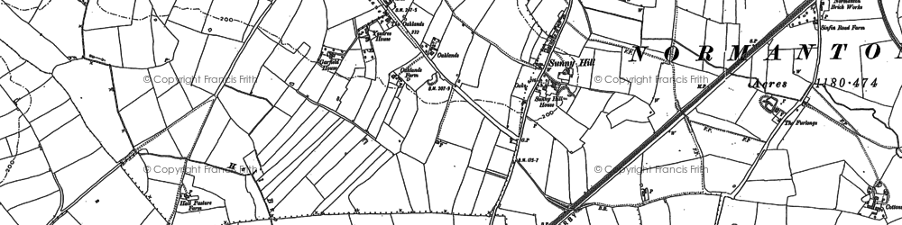 Old map of Sunny Hill in 1882