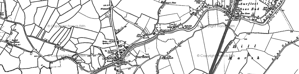Old map of Belnie in 1886