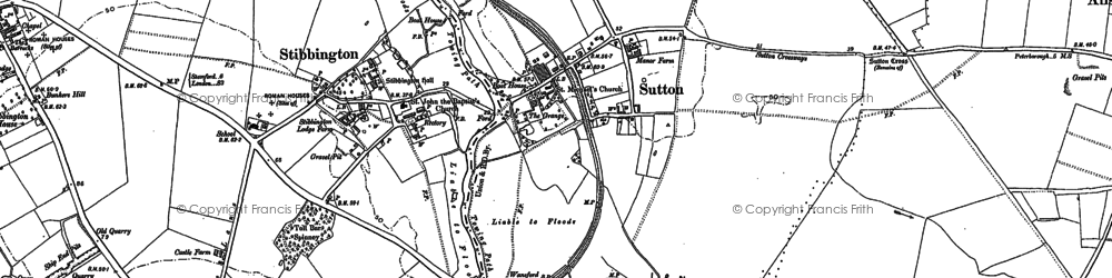 Old map of Sutton in 1885