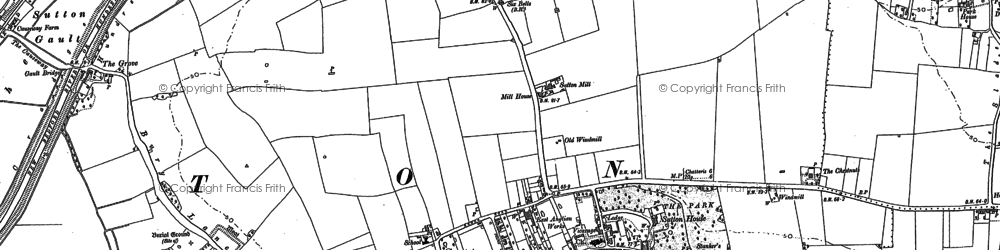 Old map of Sutton in 1886