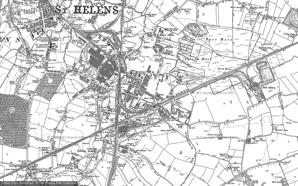 Old Maps of St Helens Junc Sta Francis Frith