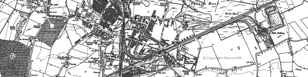 Old map of Sutton in 1891
