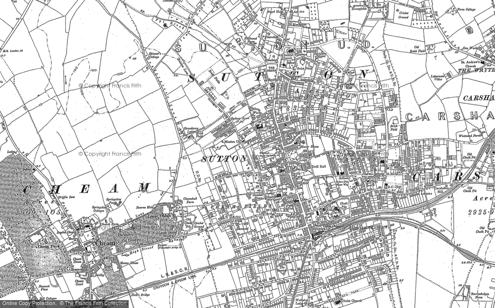 Map of Sutton, 1894 - 1895