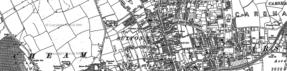 Old map of Sutton in 1894