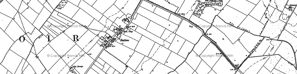 Old map of Sutton in 1899