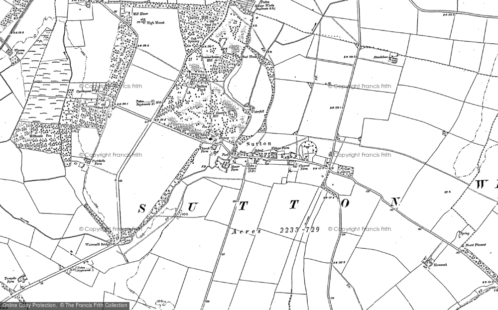 Old Map of Historic Map covering Sutton in 1900