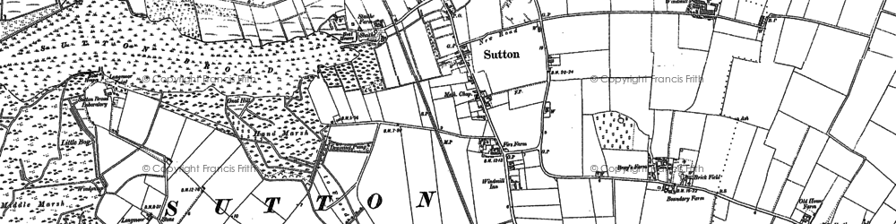 Old map of Sutton in 1905