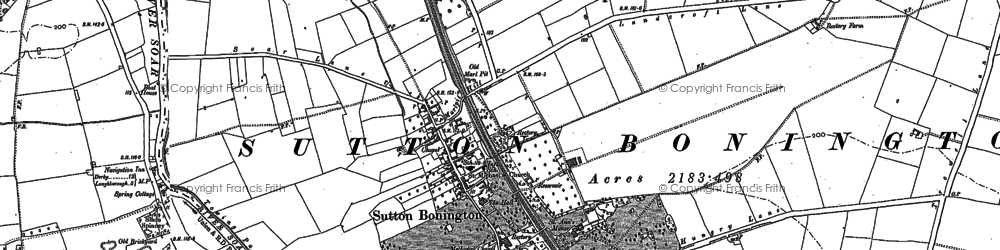 Old map of Whatton Ho in 1899