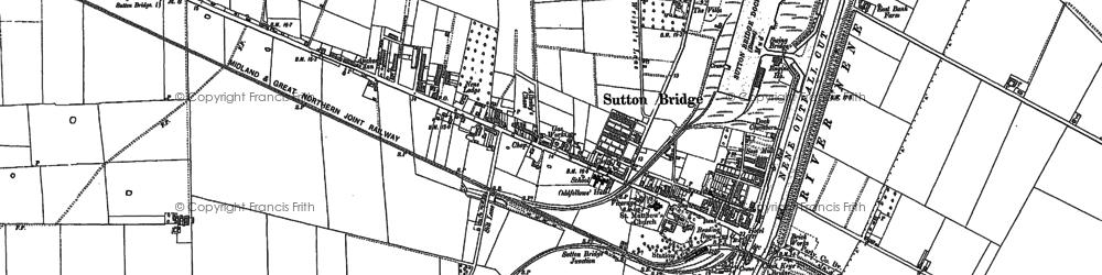 Old map of Sutton Bridge in 1887