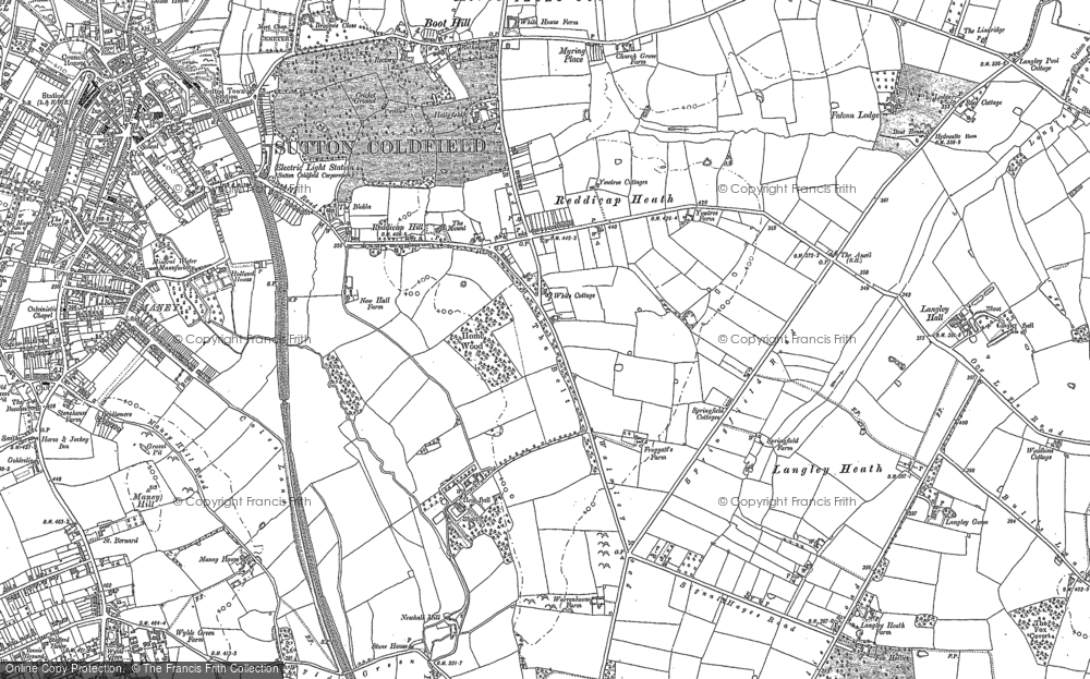Old Map of Historic Map covering Lindridge, The in 1901