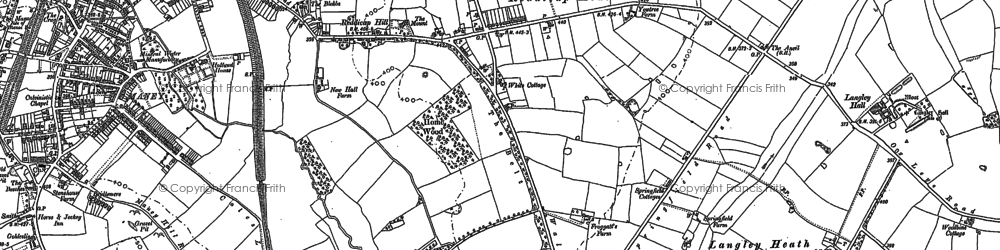 Old map of Sutton Coldfield in 1901