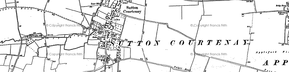 Old map of Sutton Courtenay in 1898