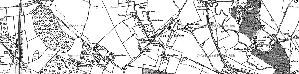 Old map of Sutton Green in 1895