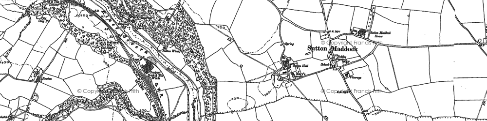 Old map of Bagley's Rough in 1882