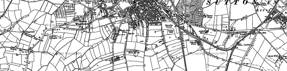 Old map of Sutton In Ashfield in 1898
