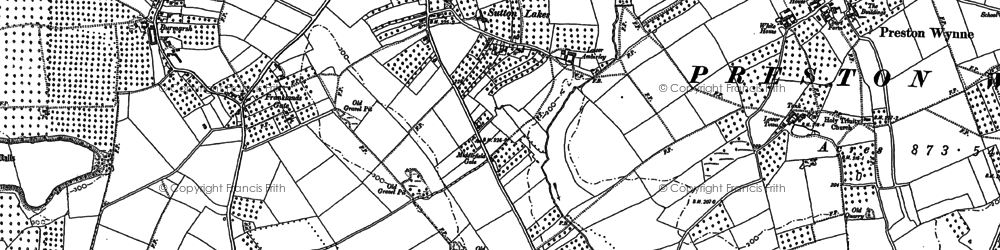 Old map of Amberley in 1886