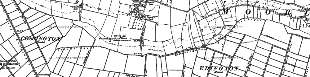Old map of Ball Hill in 1885