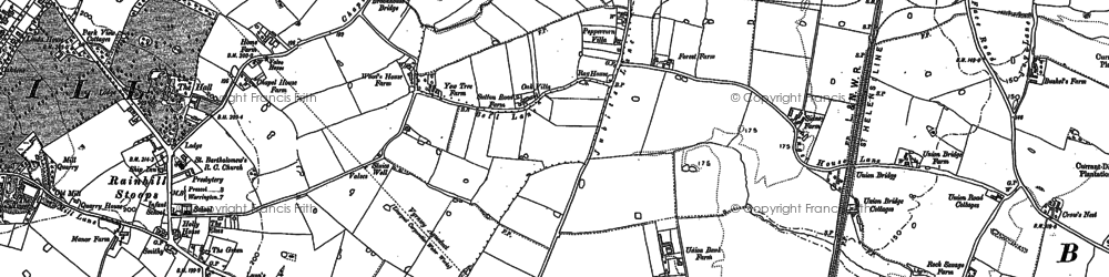 Old map of Wilmere Ho in 1891
