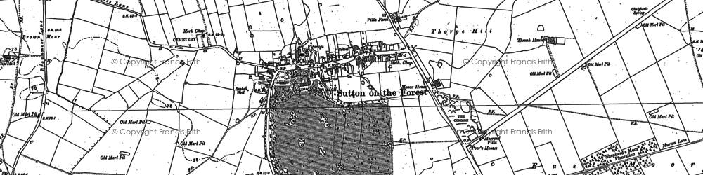 Old map of Whitecarr Beck in 1891