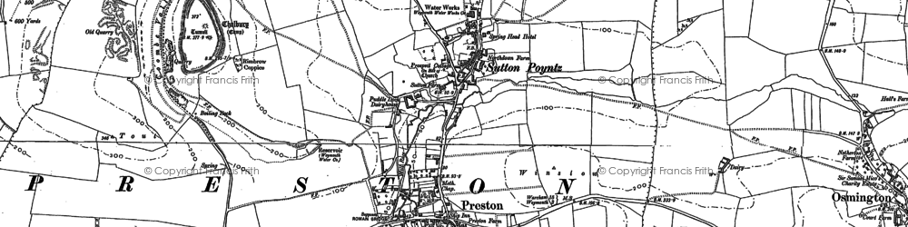 Old map of White Horse Hill in 1886