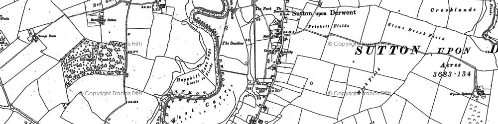 Old map of Wynam Bottoms in 1890