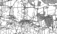 Old Map of Sutton Valence, 1896