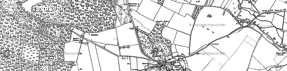 Old map of Whiten Hill in 1899
