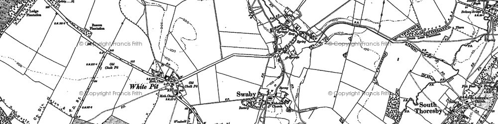Old map of White Pit in 1888
