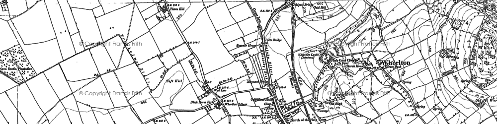 Old map of Swainby in 1892
