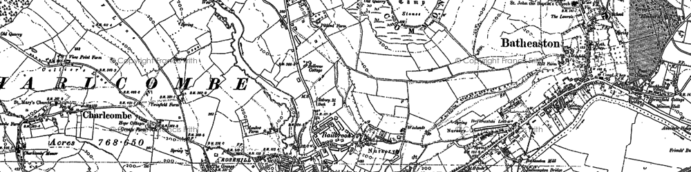 Old map of Bailbrook in 1902