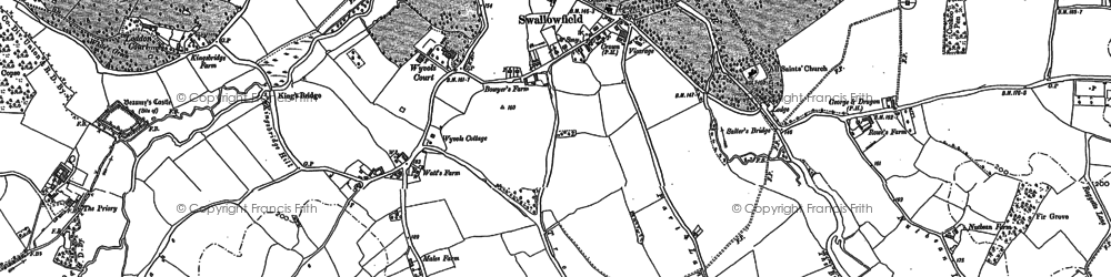 Old map of Wyvols Court in 1909