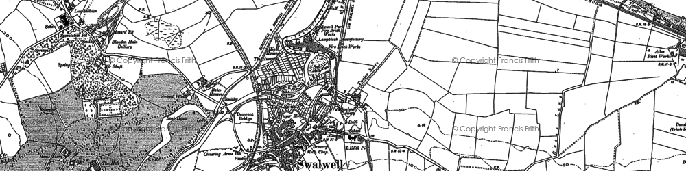 Old map of Axwell Park in 1895