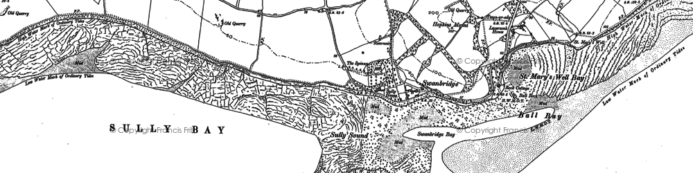 Old map of Swanbridge in 1915
