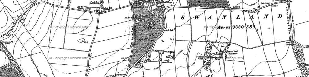 Old map of Swanland in 1908
