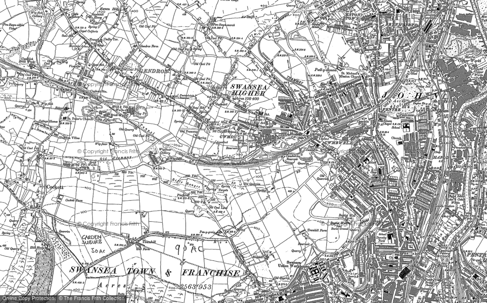 Old Map of Swansea, 1897 in 1897