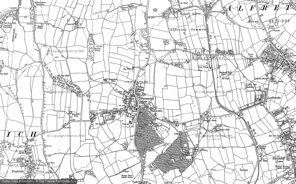 Old Map of Swanwick, 1879 - 1880 in 1879