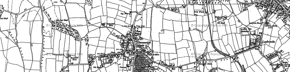 Old map of Swanwick in 1879