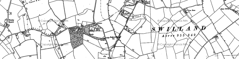 Old map of Agricultural Coll in 1881