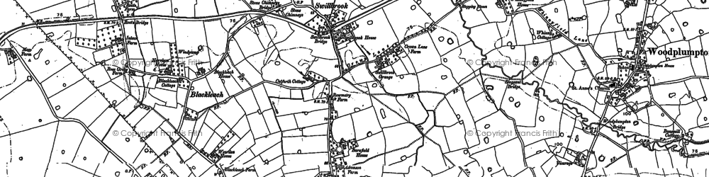 Old map of Blackleach in 1892