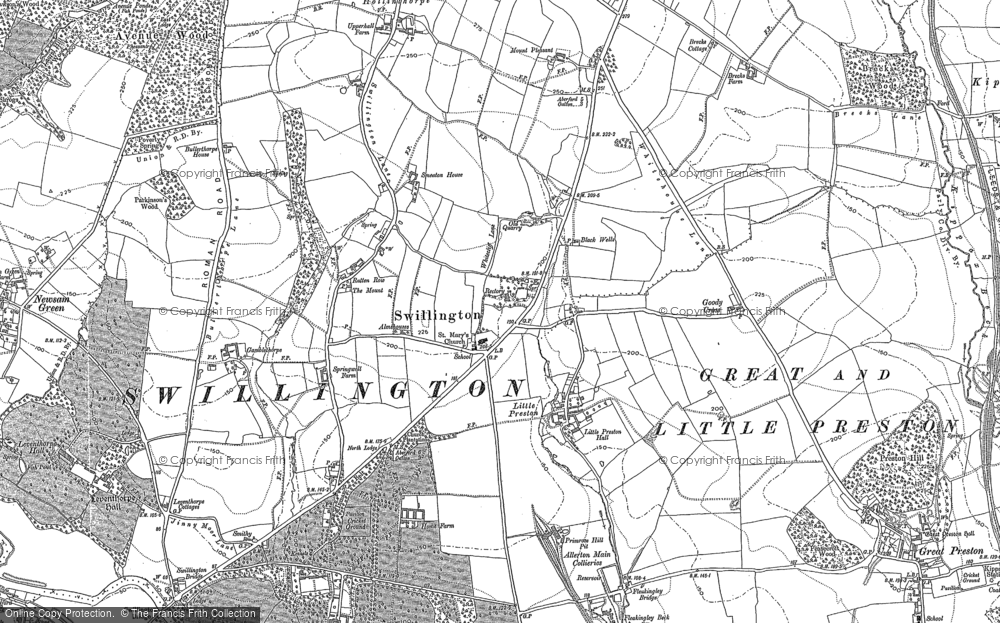 Old Map of Historic Map covering Avenue Wood in 1890