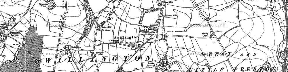 Old map of Avenue Wood in 1890