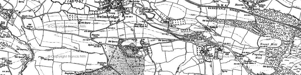 Old map of Yeoland Ho in 1886