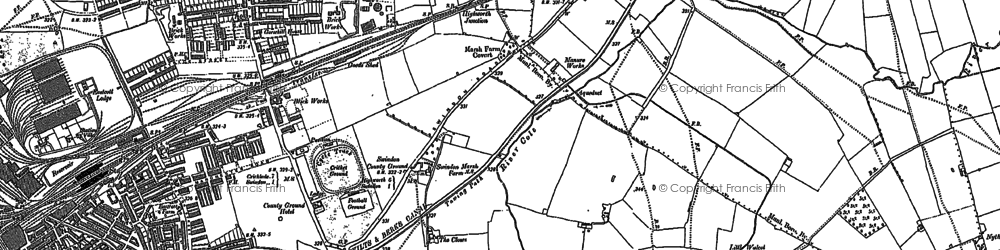 Old map of Swindon in 1899