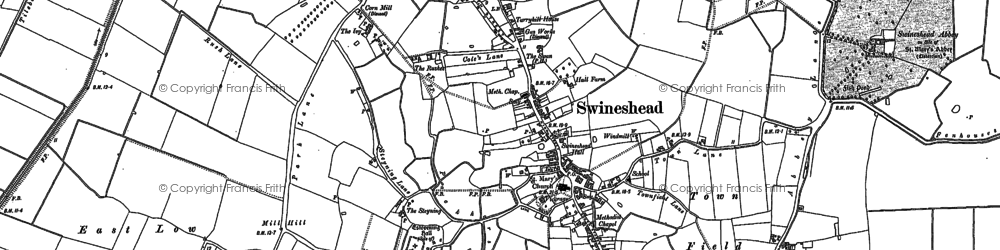 Old map of Baythorpe in 1887