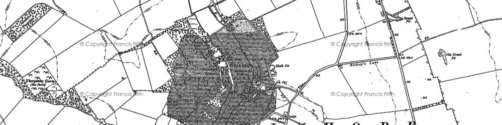 Old map of Ash Hill (Long Barrow) in 1887