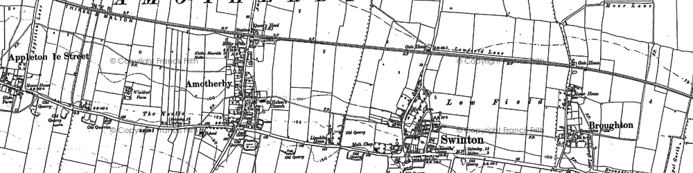 Old map of Swinton in 1889