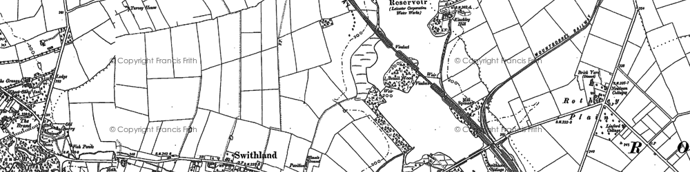 Old map of Swithland in 1883
