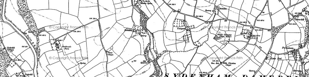 Old map of Woodley in 1905